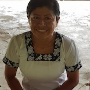 Macdelena, Mopan Maya language teacher